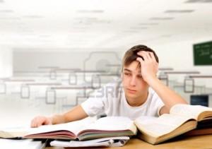 Studente stanco