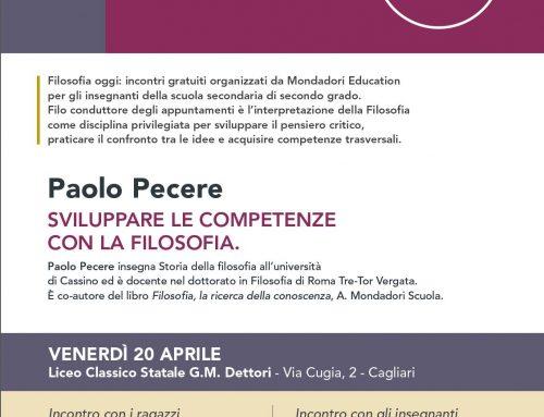 Incontro al Liceo Dettori di Cagliari con il Prof. Paolo Pecere