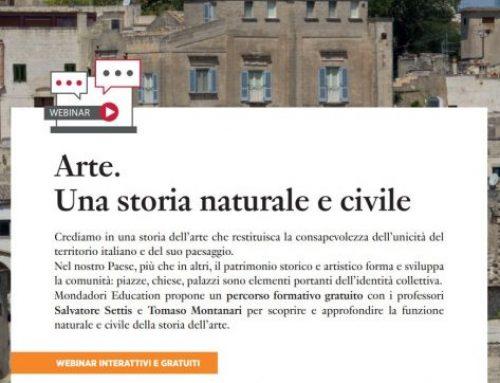 Arte. Una storia naturale e civile – Una serie imperdibile di Webinar da Mondadori Education