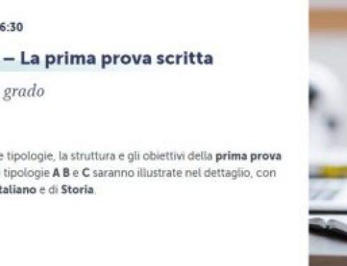 Webinar – Il nuovo Esame di Stato – La prima prova scritta – con Patrizia Becherini